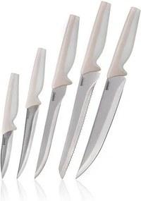Banquet 5-dielna sada nožov Saphyr, krémová