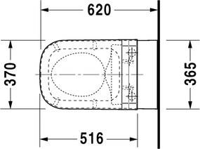 HAPPY D.2 Duravit Happy D.2 - Závesné WC 36,5x62 cm, biela 2550590000