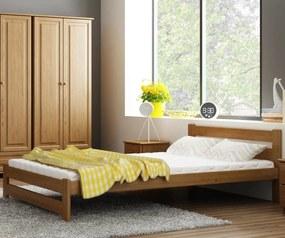 AMI nábytok Postel dub Eureka VitBed 160x200cm + Matrace Niobé 160x200