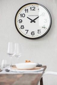IB LAURSEN Nástenné hodiny Copenhagen Black 52cm