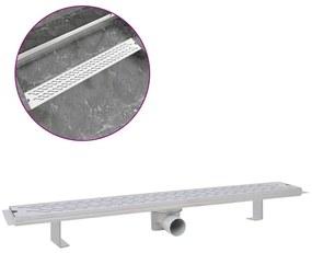 Rovný sprchový odtok s vlnkami, 830x140 mm, nerezová oceľ