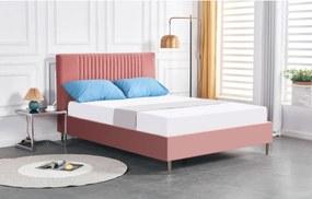 Hector Čalouněná postel Zoe 140x200 růžová