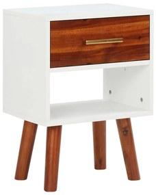 vidaXL Nočný stolík, masívne akáciové drevo, 40x30x45 cm