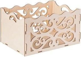 Drevobox Drevený ozdobný box z preglejky 31X23X16.5 CM