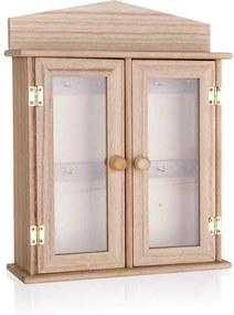 ČistéDrevo Drevená skrinka na kľúče - 27 x 21 x 6,5 cm