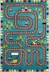 Detský kusový koberec Cestička modrý, Velikosti 120x170cm