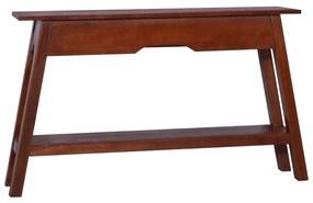 vidaXL Konzolový stolík, klasický hnedý 120x30x75 cm, mahagónový masív
