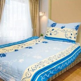 MARIANNA 140 x 200 cm modrá Krepové obliečky