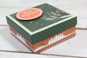"Ozdobná krabica ""FROHE WEIHNACHTEN"" (10,5x4,5x10,5 cm) 1."