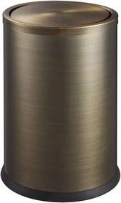 SAPHO - ROOM odpadkový koš výklopný, válec 6l, bronz (DR401