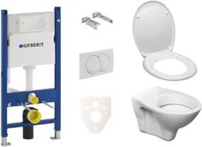 Závesný set WC S-line + modul Geberit Duofix s tlačidlom Delta 20 biele KMPLSIKOGSC