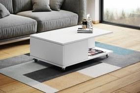 MAT-VIENNA biely mat, konferenčný stolík na kolieskach
