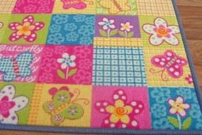 MAXMAX Detský koberec BUTTERFLY multicolor