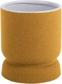 Žltá keramická váza PT LIVING Cast, výška 17 cm