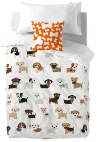 Detské bavlnené obliečky na paplón a vankúš Mr. Fox Dogs, 140 × 200 cm