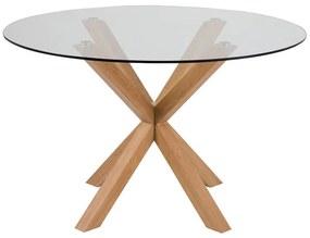 Heaven jedálenský stôl sklo / natur