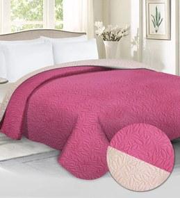 Domarex Prehoz na posteľ CASSARO Ružová/Krémová Veľkosť: 200 x 220 cm