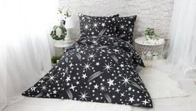 XPOSE ® Francouzské bavlněné povlečení SAMIRA - černá 200x220, 70x90