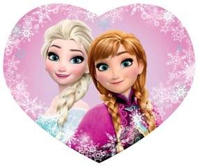 Detský vankúšik FROZEN Elsa a Anna tvarovaný 31 x 24 cm
