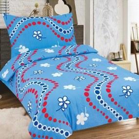 HOD Obliečky BRISA Modrá Bavlna 70x90 140x200 cm