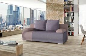 NABBI Real rozkladacia pohovka s úložným priestorom fialová / ružová