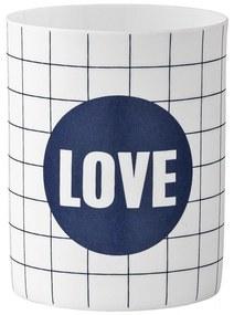 Bloomingville Porcelánový svietniček Love