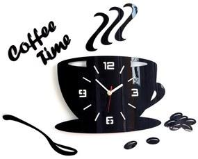 Mazur Nástenné hodiny Coffee čierne