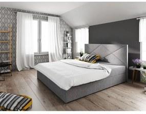 Moderná posteľ s úložným priestorom 140x200 STIG 4 - sivá
