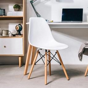 Jedálenská stolička BASIC biela - škandinávsky štýl