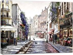 Styler Obraz na plátne - Ulička v Paríži 2 80x60 cm