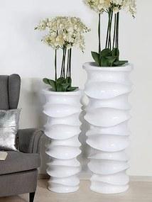 Podlahový kvetináč Moving, 120 cm - biela