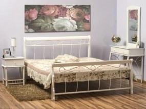 Eshopist Kovová posteľ VENECJA 120 x 200 cm biela