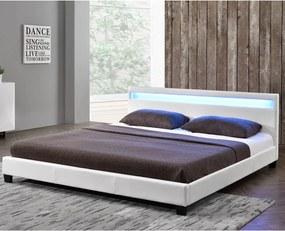 Čalúnená posteľ Paris 140 x 200 cm, biela