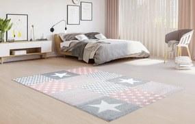 TA Detský koberec Lux ružový so vzorom Rozmer: 80x150