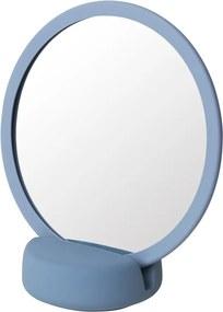 Modré stolové kozmetické zrkadlo Blomus, výška 18,5 cm