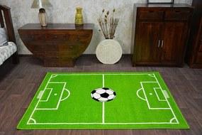 MAXMAX Detský koberec FUNKY TOP HOP futbalový trávnik