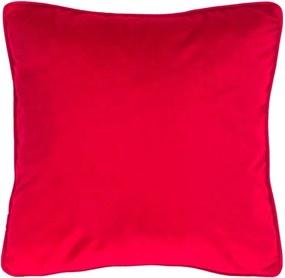Červený vankúš Tiseco Home Studio Velvety, 45 x 45 cm