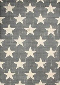 Kusový koberec PP Hviezdy sivý, Velikosti 80x150cm