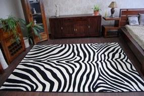 3kraft Detský koberec FUNKY ZEBRA bielo-čierny