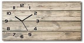 Sklenené hodiny na stenu tiché Drevené pozadie pl_zsp_60x30_f_59799468
