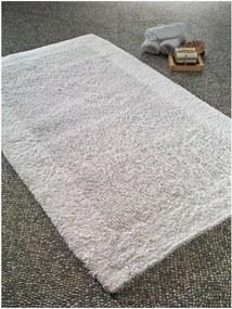 Biela predložka do kúpeľne Confetti Natura Heavy, 70 × 120 cm