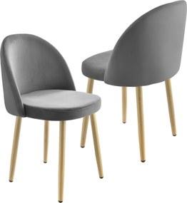 [en.casa]® Čalúnená stolička AAVC-8457