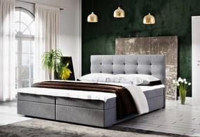 Čalúnená posteľ FADO 2 + rošt + matrac, 180x200, Cosmic 160