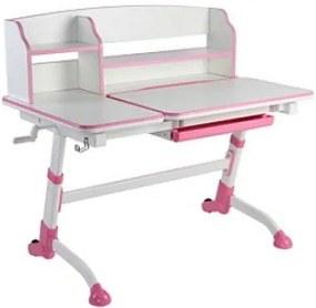 FD Rastúci písací stôl pre deti Amorte II Farba: Ružová