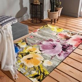 DomTextilu Kvalitný farebný koberec s motívom kvetov 40982-187471