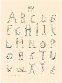 Maileg Plagát Jógová abeceda