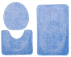Kúpeľňové predložky 1125 modré 3 ks, Velikosti 50x80cm