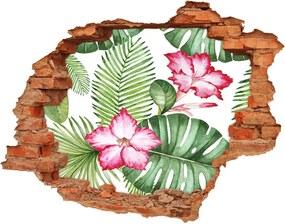 28D diera na stenu Tropické kvety WallHole-cegla-90x70-91379630