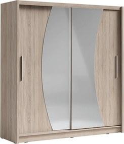 Skriňa s posúvacími dverami, dub sonoma, BIRGAMO TYP 2
