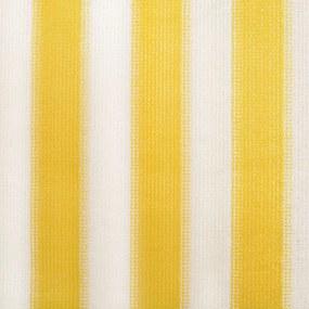 vidaXL Vonkajšia zatemňovacia roleta, 240x140 cm, žlté a biele pásiky